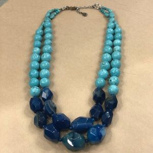 BARSE 💙turquoise and blue agate💙necklace